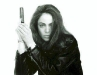 Yancy Butler Black and White Witchblade Promo